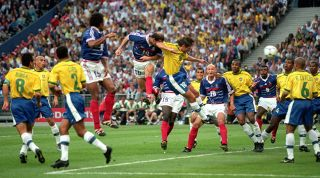 Zinedine Zidane Brazil 1998 World Cup final