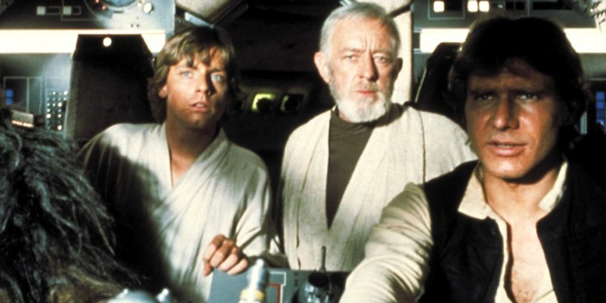 Star Wars Mark Hamill Praises Alec Guinness For Putting Up With Him And Harrison Ford Cinemablend
