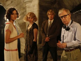 In Woody Allen's film Midnight in Paris, the main character Gil, played by Owen Wilson (center) travels back in time from modern-day Paris to the city in 1920s.