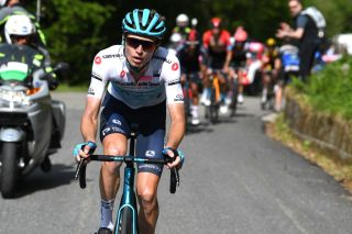ALPE DI MERA VALSESIA ITALY MAY 28 Aleksander Vlasov of Russia and Team Astana Premier Tech White Best Young Rider Jersey during the 104th Giro dItalia 2021 Stage 19 a 166km stage from Abbiategrasso to Alpe di Mera Valsesia 1531m Stage modified due to the tragic events on May the 23rd 2021 that involved the Mottarone Cableway UCIworldtour girodiitalia Giro on May 28 2021 in Alpe di Mera Valsesia Italy Photo by Tim de WaeleGetty Images