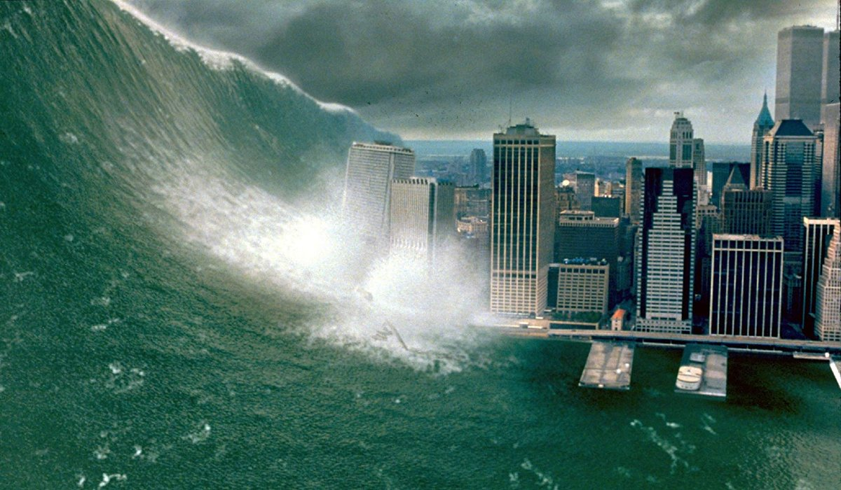 Deep Impact the wave hits New York City