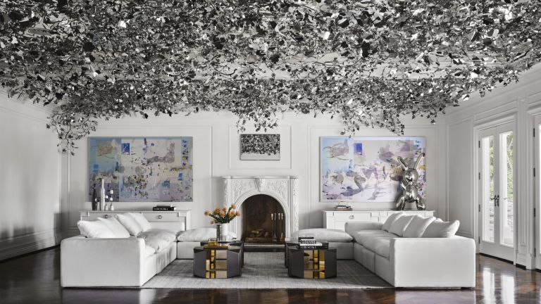Living room in Max Azria's house