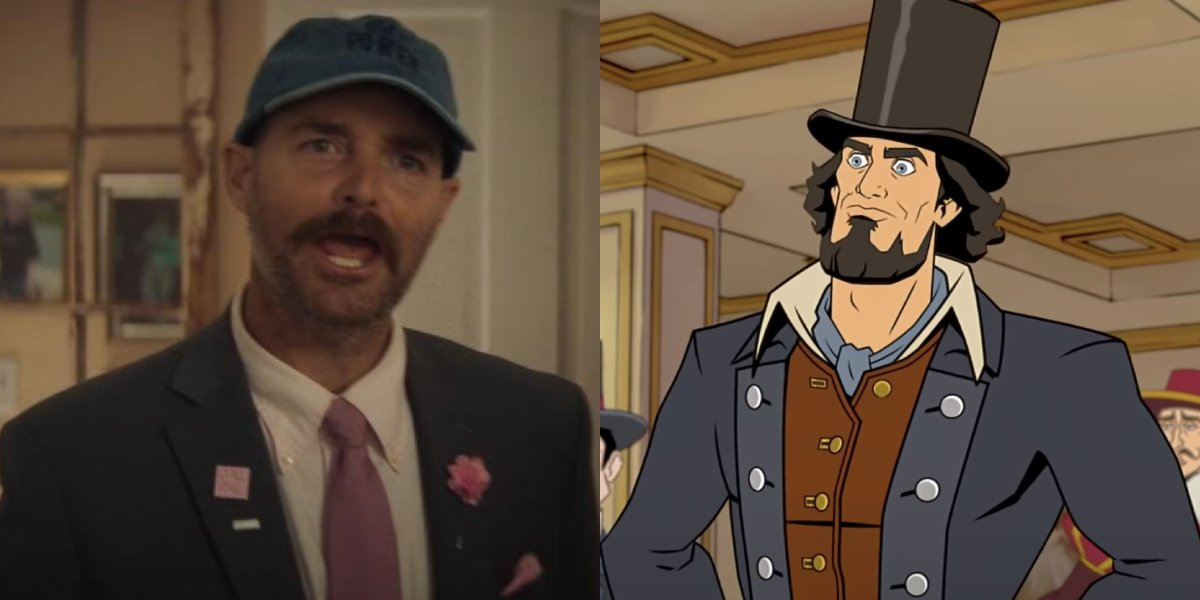 Will Forte and Abraham Lincoln from America: The Motion Picture