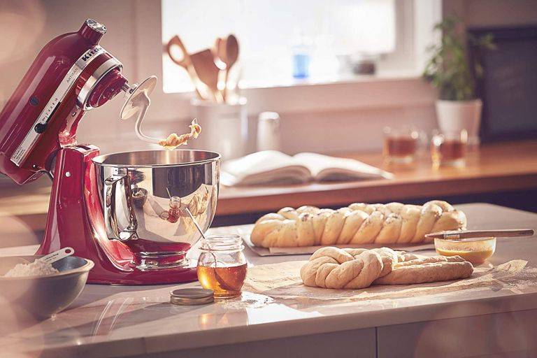 Kitchenaid stand mixer and monkey bread