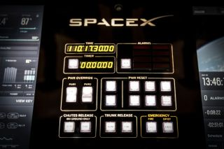 SpaceX Dragon V2 Preview Image - Control Panel