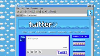 Retro web designs: Twitter