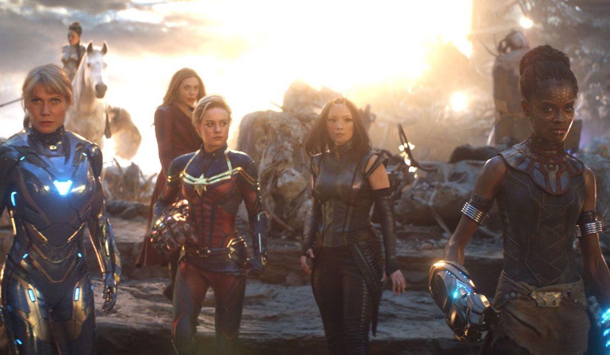 Gwyneth Paltrow, Elizabeth Olsen, Brie Larson, Pom Klementieff and  Letitia Wright in Avengers: Endg