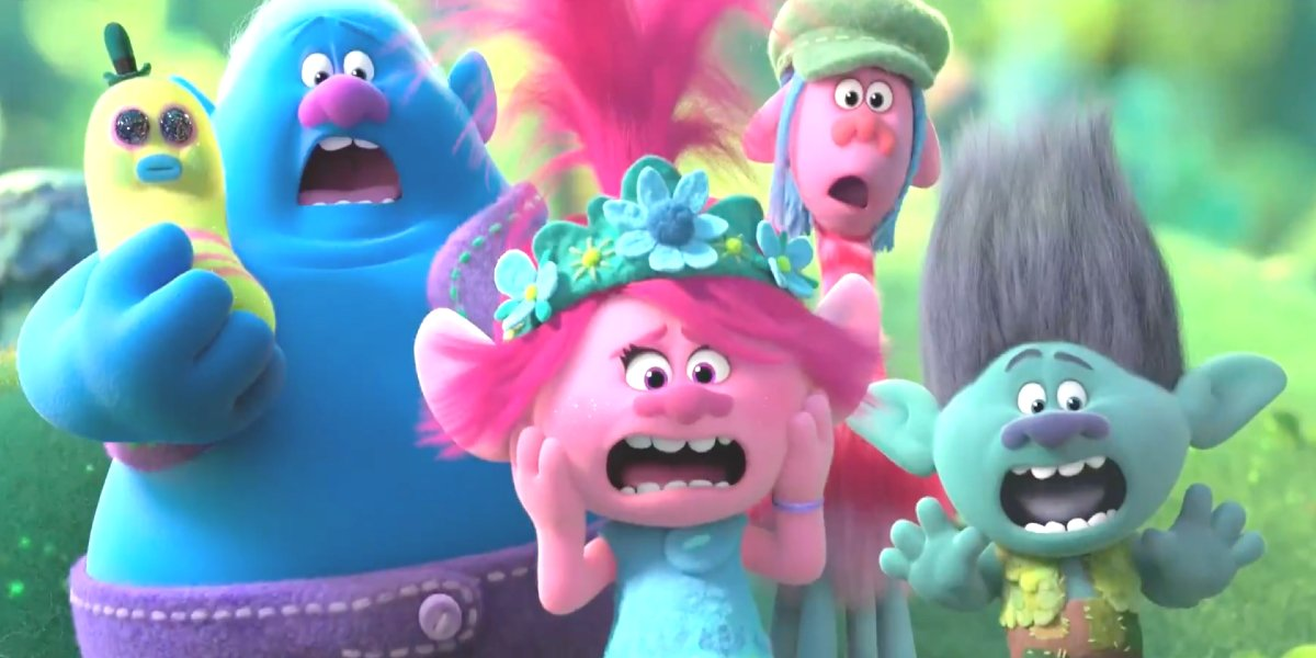 The main cast of Trolls World Tour