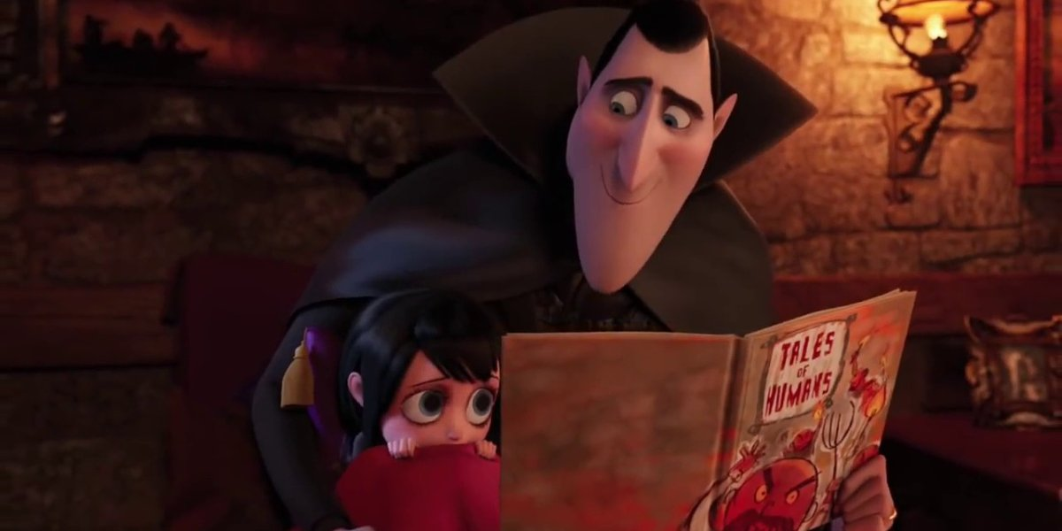 Dracula and Mavis in Hotel Transylvania