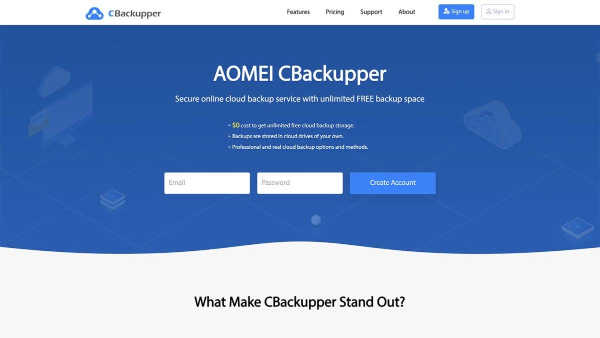 AOMEI CBackupper review