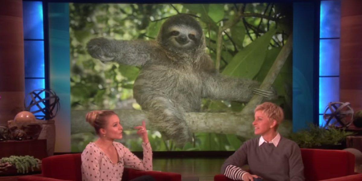 Kristen Bell and Ellen DeGeneres on The Ellen DeGeneres Show