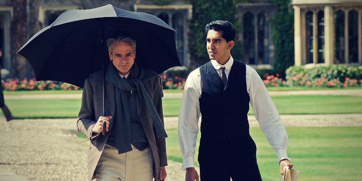 Jermey Irons and Dev Patel in The Man Who Knew Infinity