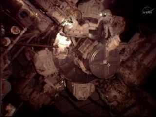 Astronauts Sunita Williams and Akihiko Hoshide begin spacewalking on Aug. 30, 2012.