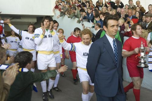 The Damned United - Michael Sheen as Brian Clough, here leading Leeds United on to the Wembley pitch for the Charity Shield against Liverpool