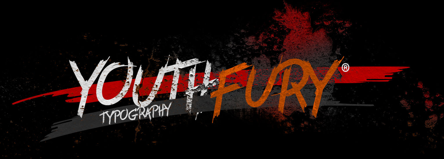 Free graffiti fonts: Youth Fury