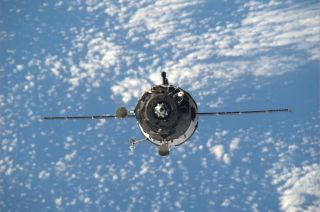 Expedition 39 Soyuz Capsule Approaches International Space Station