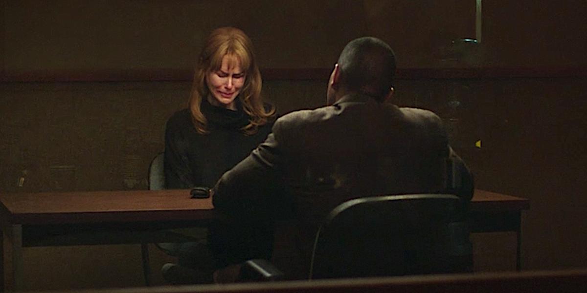 Nicole Kidman as Celeste being interrogated in Big Little Lies
