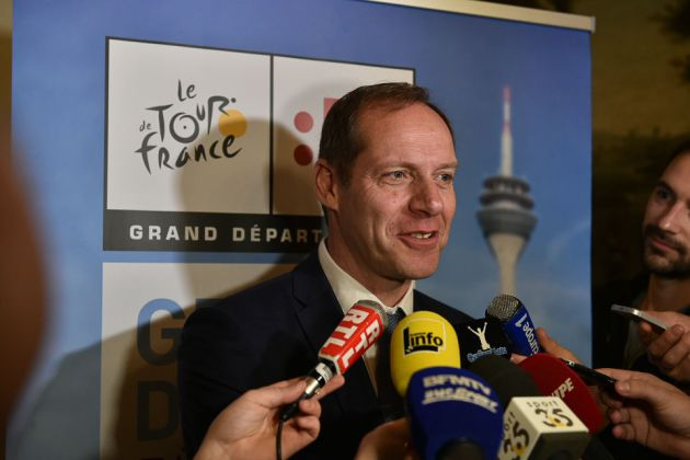 Christian Prudhomme at the launch of the 2017 Tour de France Grand Depart