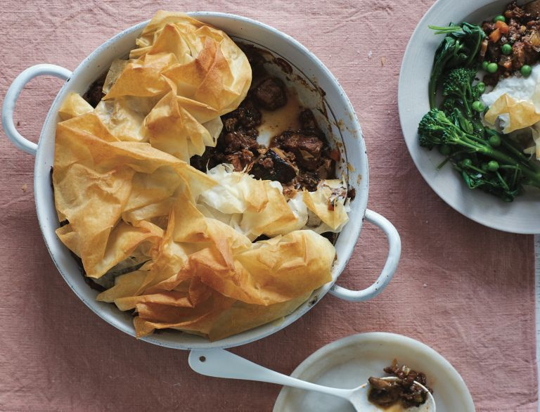 Meaty mushroom pie recipe