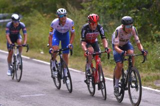 Andreas Kron (Riwal Securitas) leads the breakaway on stage 4 of the 2020 Tour de Wallonie