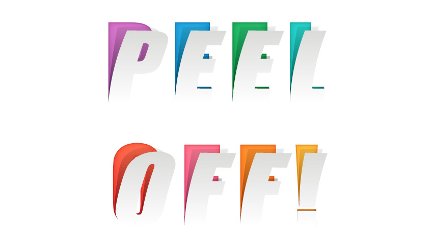 Illustrator tutorials: peeled text effect
