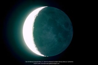 Crescent Moon and Earthshine by Chumack
