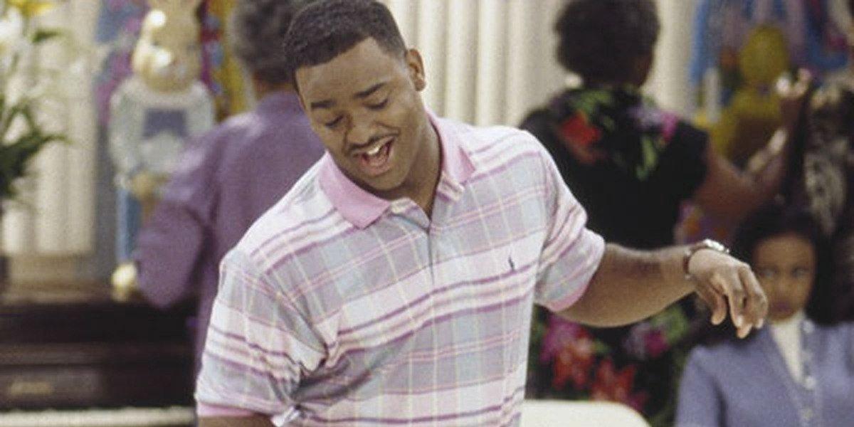 Carlton Banks singing on The Fresh Prince of Bel-Air