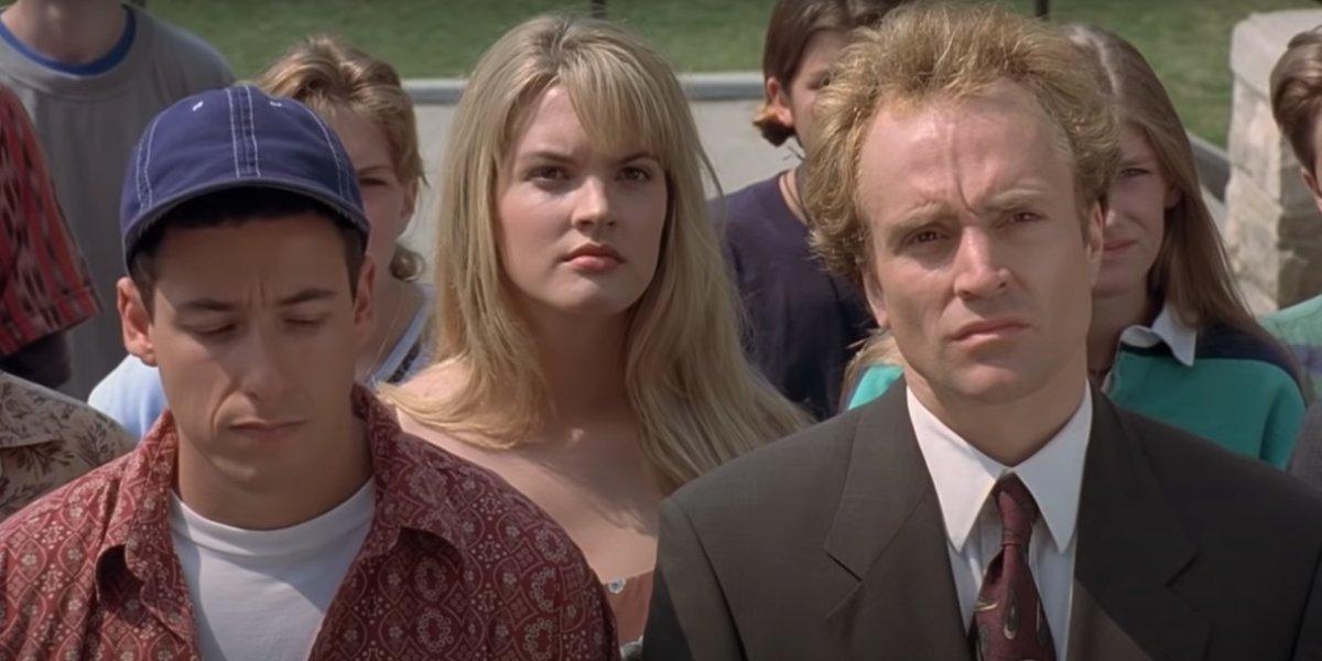 Adam Sandler, Bridgette Wilson, and Bradley Whitford in Billy Madison