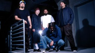 A photograph of Deftones taken in the early 2000s