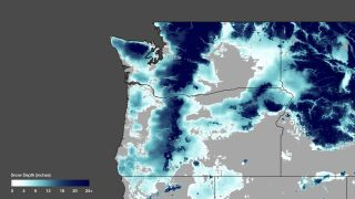 Data from the National Weather Service's Hydrologic Remote Sensing Center shows the estimated snow depths on January 17, 2012. Using ground based sensors, satellites, and aircraft reconnaissance (where available), the analysis from NOHRSC provides highly