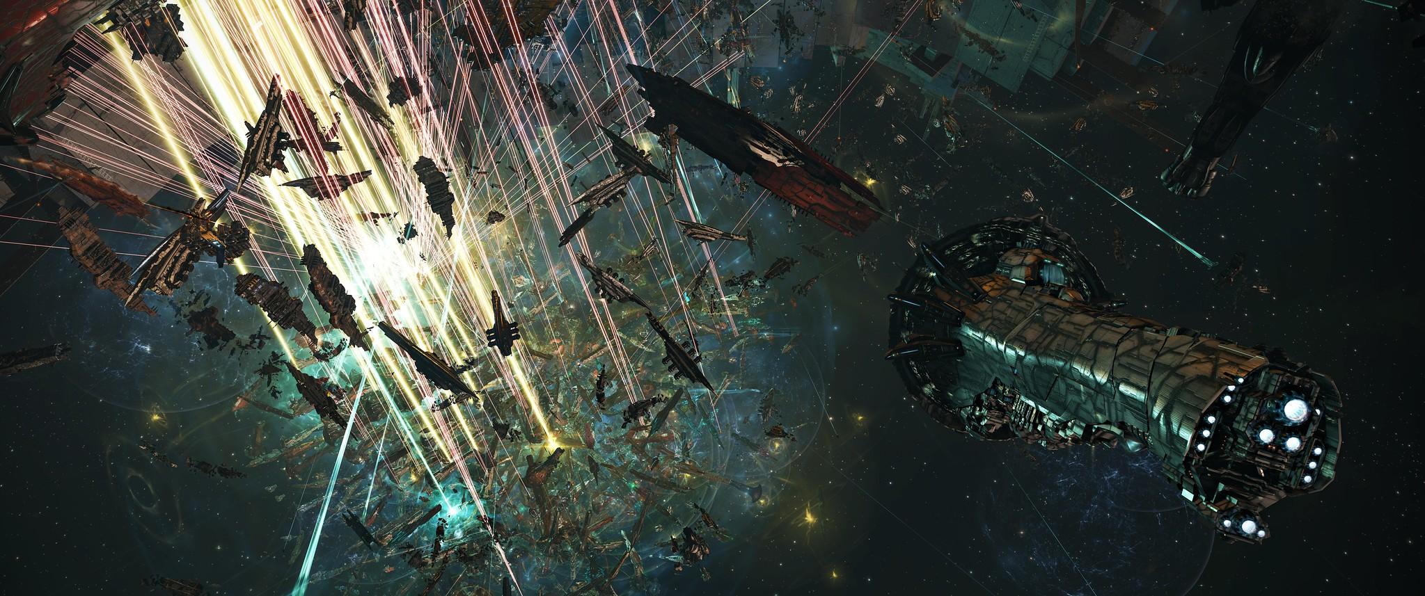 A huge battle in EVE Online.