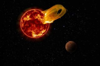 Proxima Centauri flare illustration