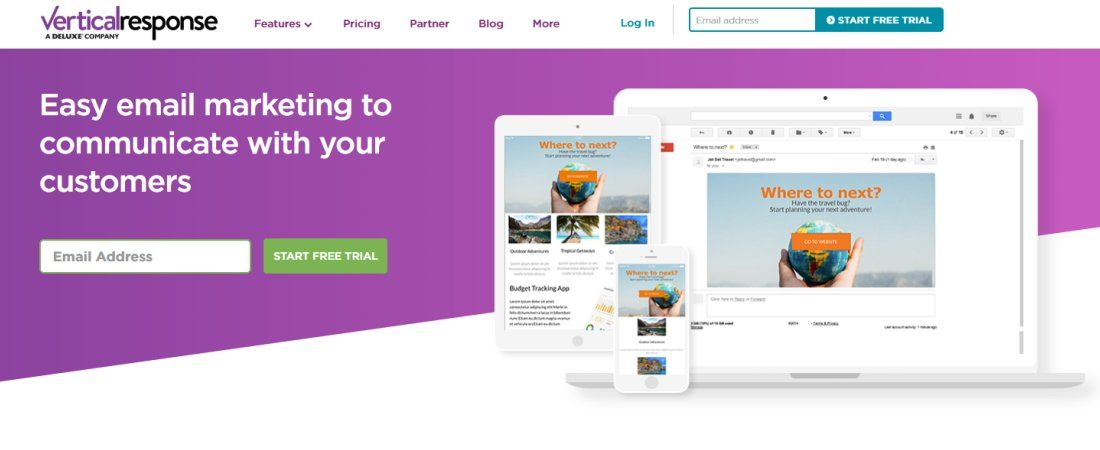 VerticalResponse email marketing review
