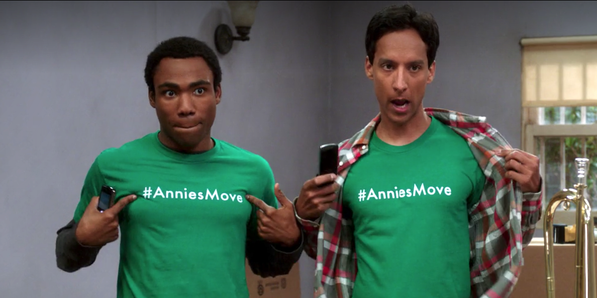 Troy and Abed helping Annie move in Community.