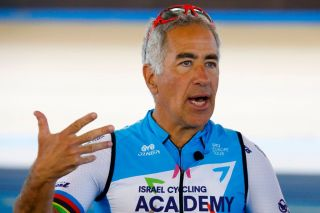 IsraeliCanadian billionaire Sylvan Adams speaks to journalists during a training session in the Sylvan Adams National Velodrome in the Israeli coastal city of Tel Aviv on December 10 2019 Photo by JACK GUEZ AFP Photo by JACK GUEZAFP via Getty Images