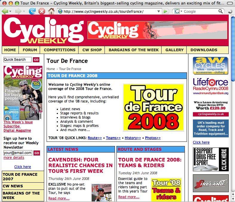 Tour de France 2008 guide