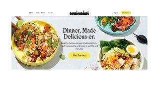 Sunbasket review: Image shows the website homepage.