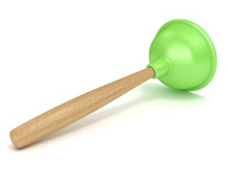 A green plunger.