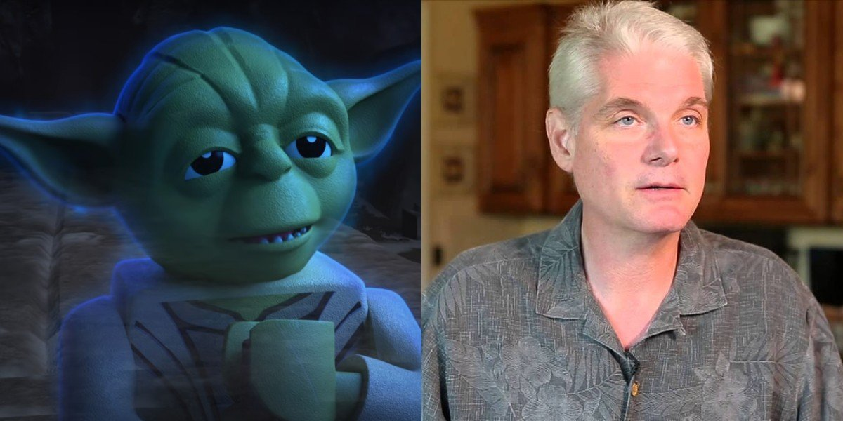Yoda in LEGO Star Wars Holiday Special; Tom Kane in a KU interview
