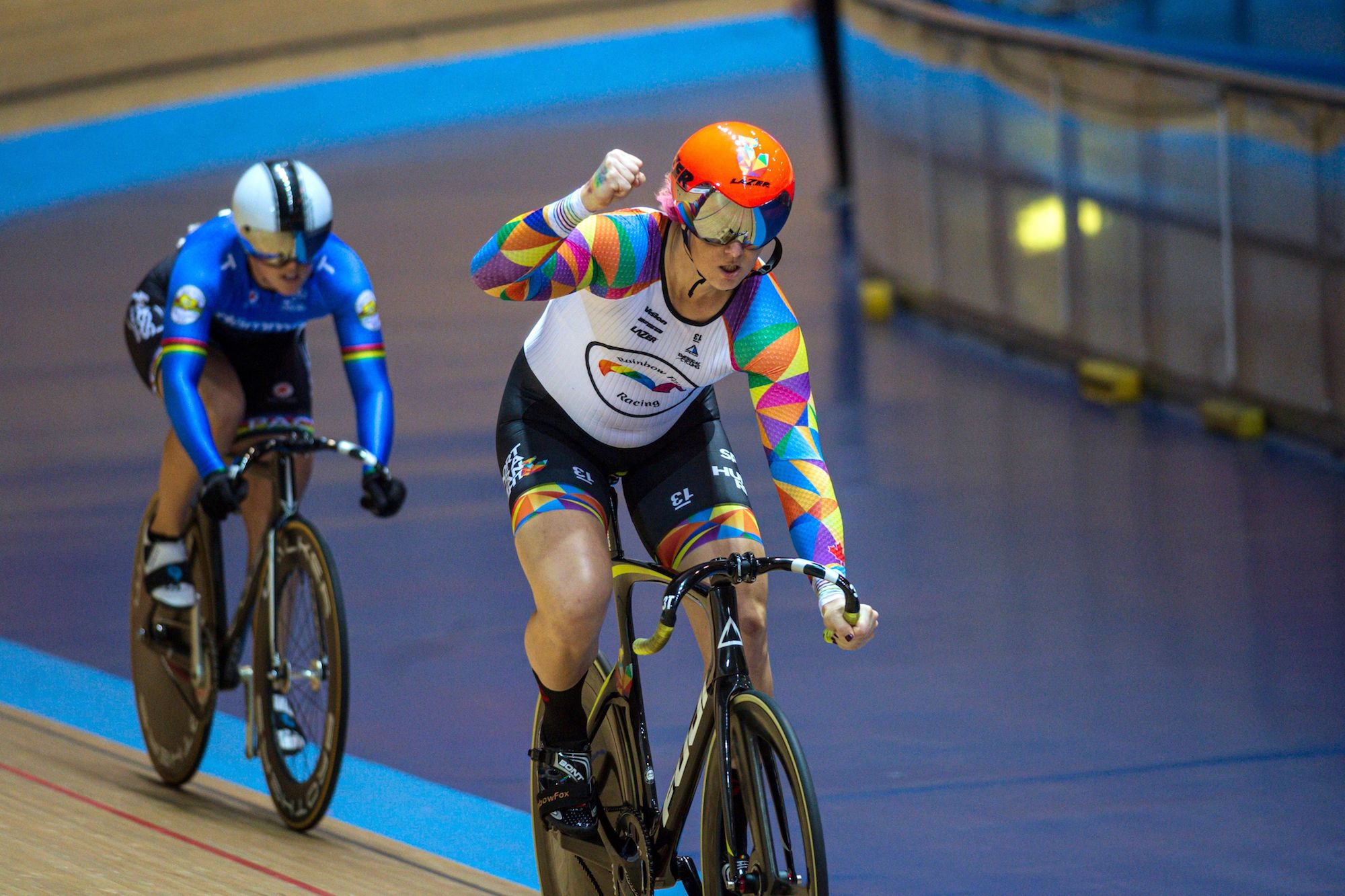 Transgender athlete Rachel McKinnon defends track world title