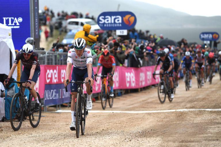 Remco Evenepoel on stage nine of the Giro d'Italia 2021