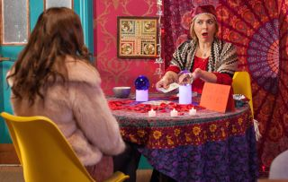 Myra turns fortune-teller but what will her predictions be for Maxine?