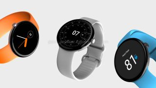 Renders of Pixel Watch based on alleged leaked images and marketing materials