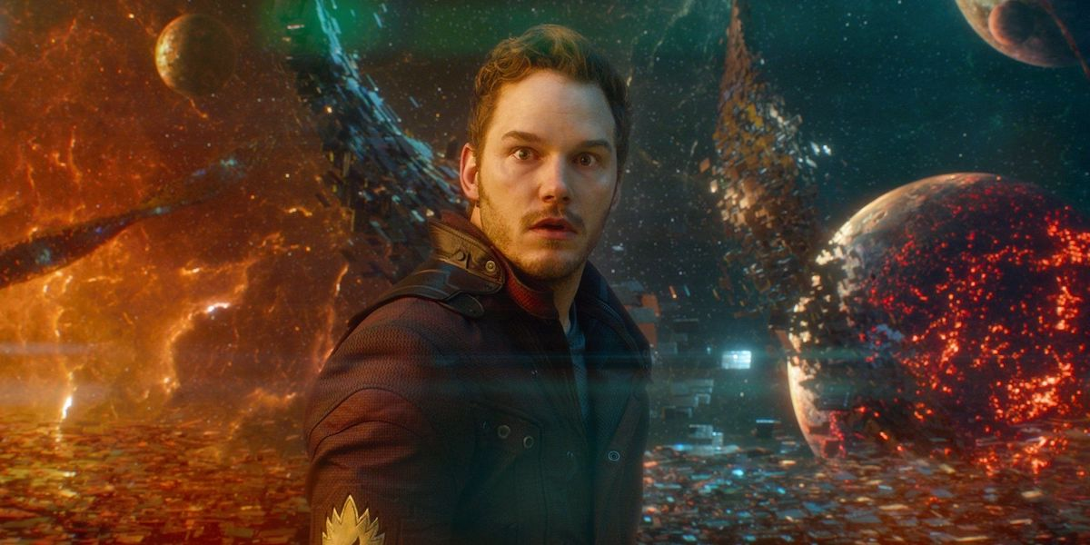 Chris Pratt as Star-Lord in Guardians of the Galaxy