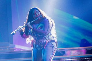 Lizzo performs during the 62nd Annual Grammy Awards on Jan. 26, 2020 in Los Angeles.