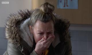 EastEnders Karen upset about Bronson