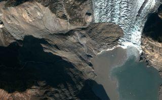 A massive landslide struck Alaska's Tyndall Glacier in 2015.