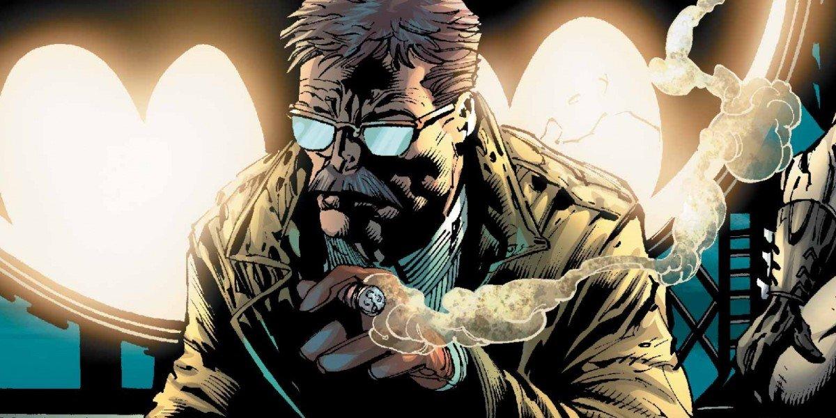 james gordon smoking cigar in the joker comic