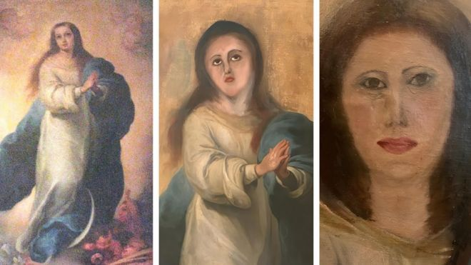 Botched painting restoration will haunt your nightmares