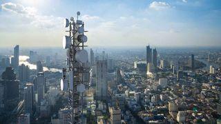 Verizon building antennas.
